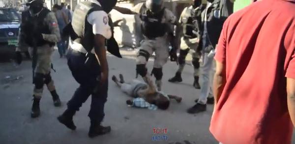 Tout-Haiti offre une prime de $1,500 US pour identifier et traduire en justice le policier, qui a