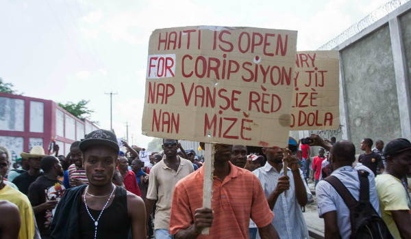 17 oct 2014 manifestation anti martelly haiti open for corruption touthaiti
