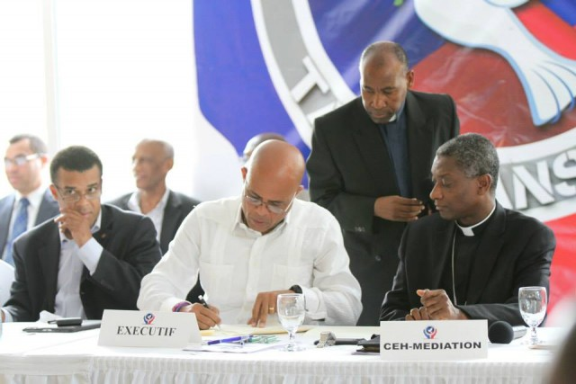 accord politique-Martelly-steven-langlois