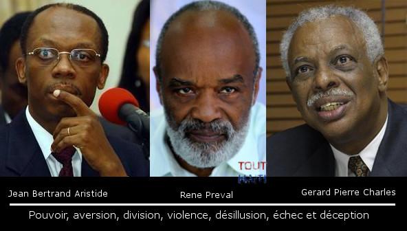 Jean-Bertrand Aristide, René Préval, Gérard Pierre-Charles: Pouvoir, aversion, division, violence, désillusion, échec et déception (2/2)