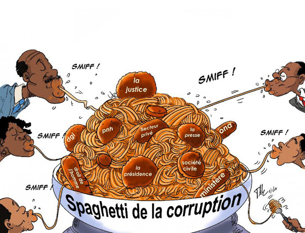 Caricature - Spaghetti corruption 600