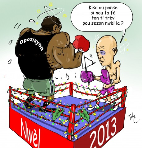 caricature Martelly-boxing