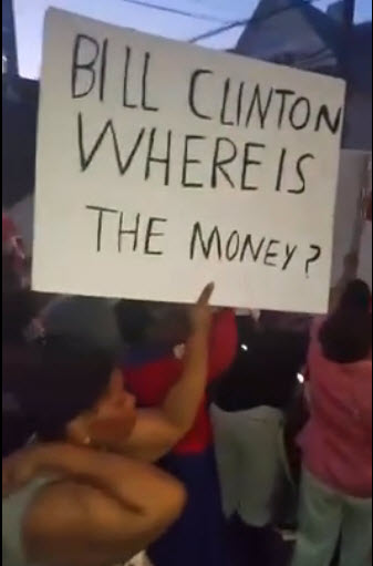 bill clinton where is the money