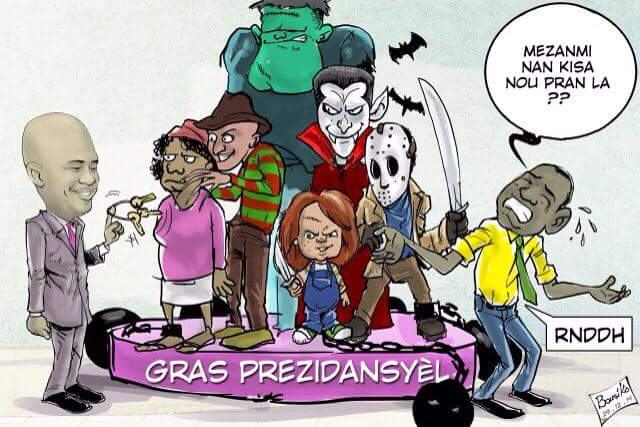 caricature- martelly grace presidentielle