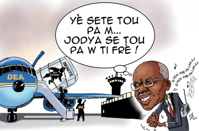 caricature - guy philippe  aristide immunite
