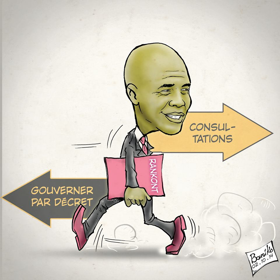caricature - mega bluff consultation michel martelly