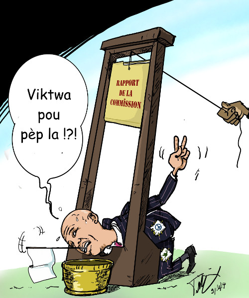 caricature guillotinage de martelly 500