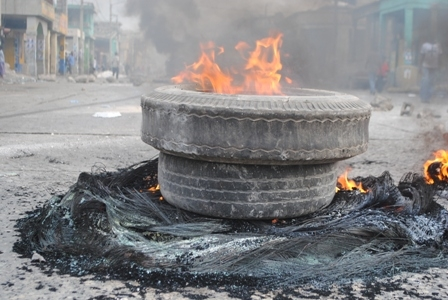 manifestation-pneus en feu