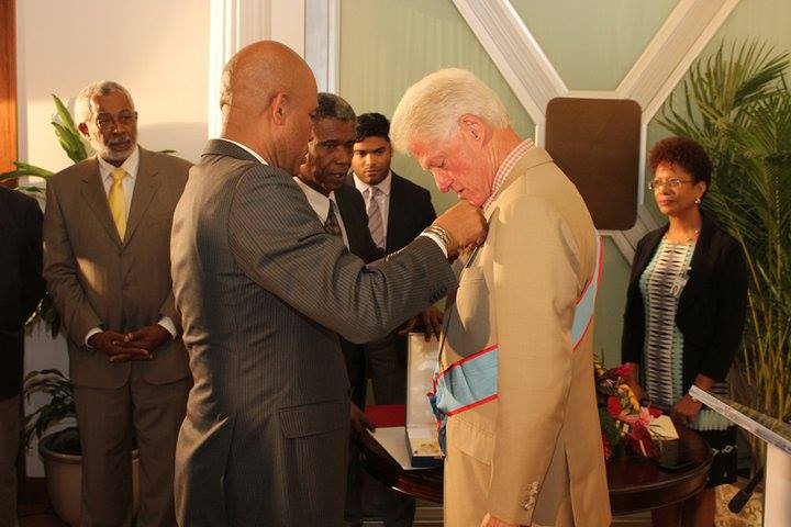 martelly decoration bill clinton