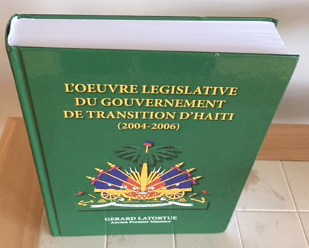 oeuvre legislative transition touthaiti