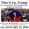 DOWN WITH TRUMP flyer time up