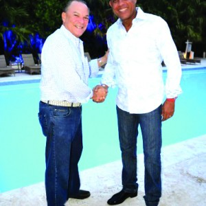 President Michel Martelly to the right and Frank Ranieri President of the Punta Cana Group