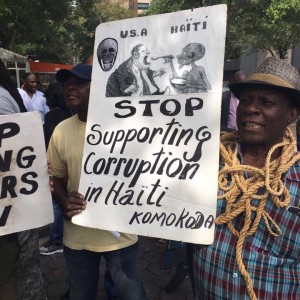 usa stop supporting corruption in haiti 9-21-2017 ny