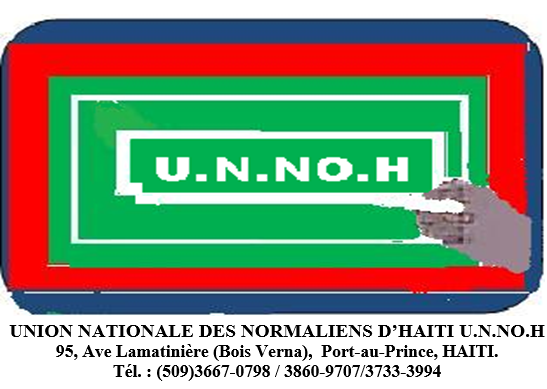 unnoh union nationale normalien haitien